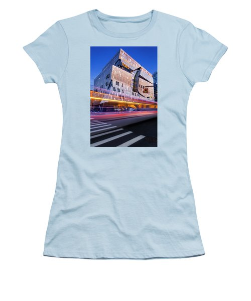 Women's T-Shirt (Athletic Fit) featuring the photograph The Cooper Union Nyc by Susan Candelario