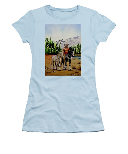 The Crossing Women's T-Shirt (Junior Cut) by Jimmy Smith