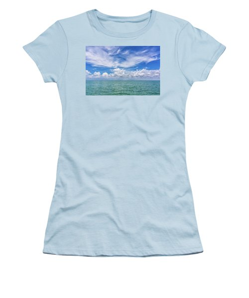 The Dance Of Clouds On The Sea Women's T-Shirt (Athletic Fit)