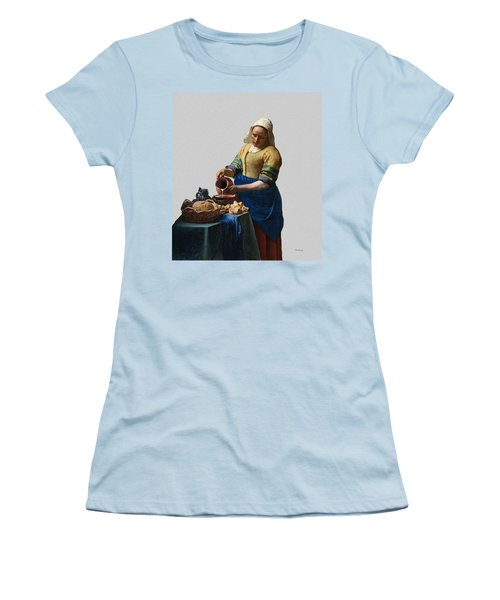 The Elegance Of The Kitchen Maid Women's T-Shirt (Athletic Fit)