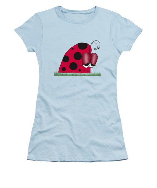 The Euphoric Ladybug Women's T-Shirt (Junior Cut) by Michelle Brenmark