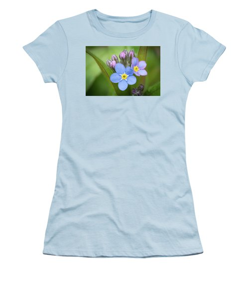 Women's T-Shirt (Athletic Fit) featuring the photograph The First Blossom Of The Forget Me Not by William Lee