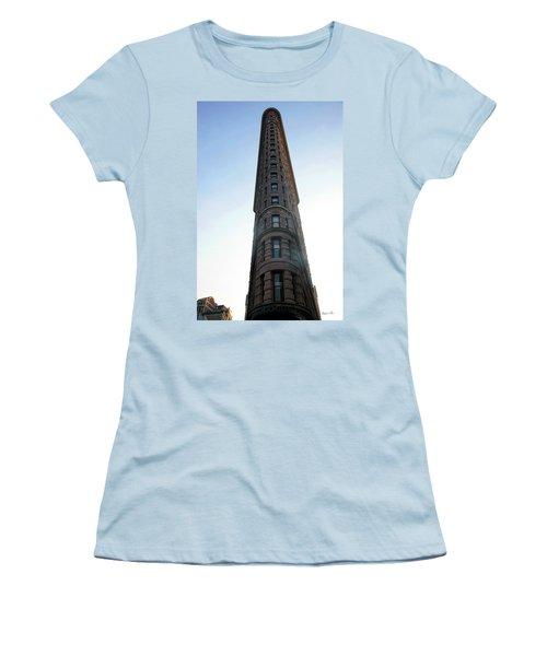 Women's T-Shirt (Junior Cut) featuring the photograph The Flatiron - Manhattan by Madeline Ellis