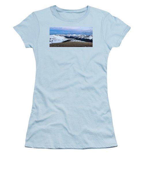 The Gore Range At Sunrise - Rocky Mountain National Park Women's T-Shirt (Junior Cut) by Ronda Kimbrow
