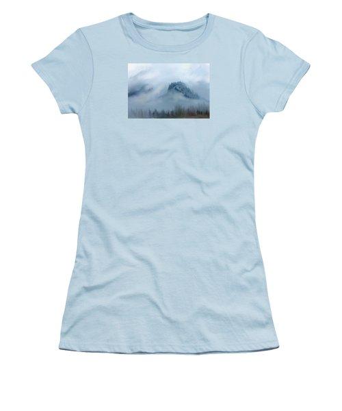 The Gorge In The Fog Women's T-Shirt (Junior Cut) by Debra Baldwin