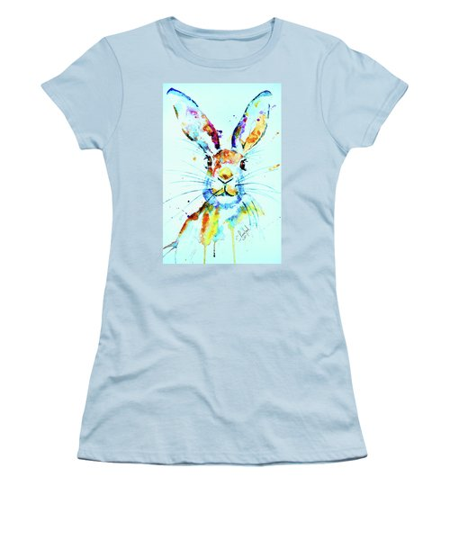 The Hare Women's T-Shirt (Junior Cut) by Steven Ponsford