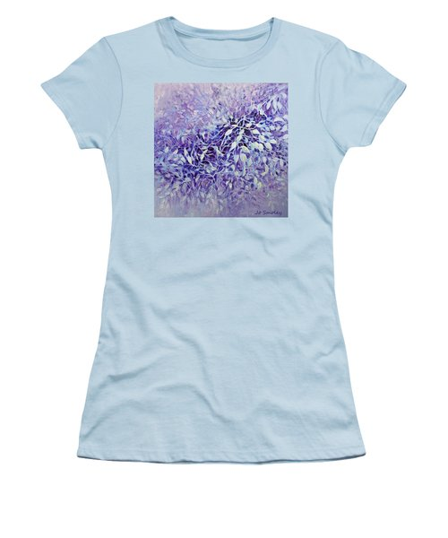 Women's T-Shirt (Junior Cut) featuring the painting The Healing Power Of Amethyst by Joanne Smoley