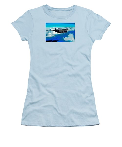 The High Flight Of A Grumman F4f Wildcat Women's T-Shirt (Athletic Fit)