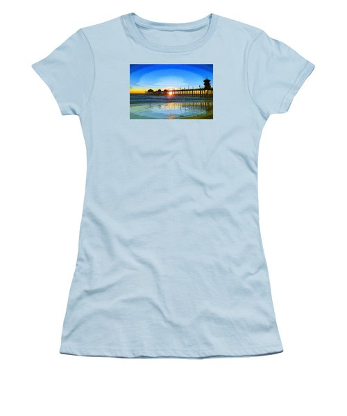 The Huntington Beach Pier Women's T-Shirt (Athletic Fit)
