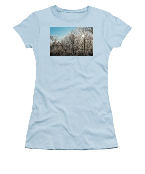 The Ice Storm Women's T-Shirt (Junior Cut) by Penny Lisowski