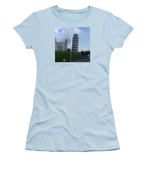 The Leaning Tower Of Pisa Women's T-Shirt (Junior Cut) by Patsy Jawo