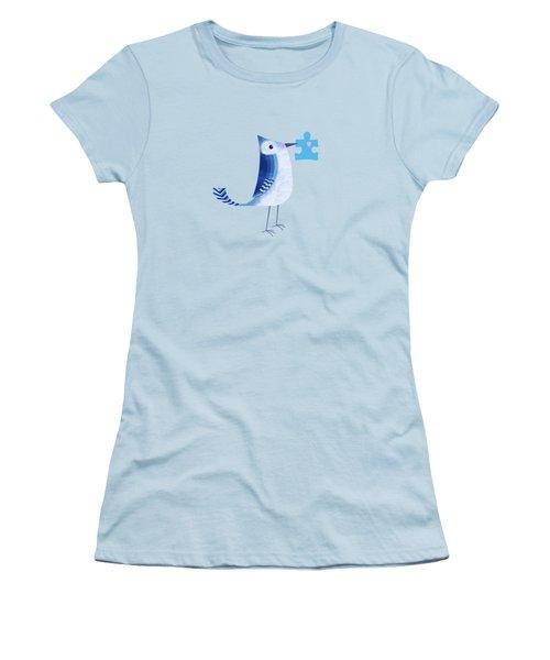 The Letter Blue J Women's T-Shirt (Junior Cut) by Valerie Drake Lesiak