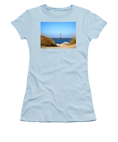 The Lighhouse At Morris Island Charleston Women's T-Shirt (Athletic Fit)