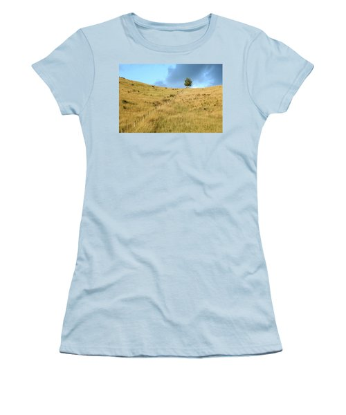 The Lines The Tree And The Hill Women's T-Shirt (Junior Cut) by Yoel Koskas