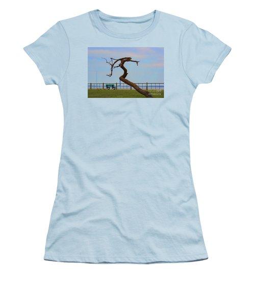 The Lone Tree Women's T-Shirt (Junior Cut) by Roberta Byram