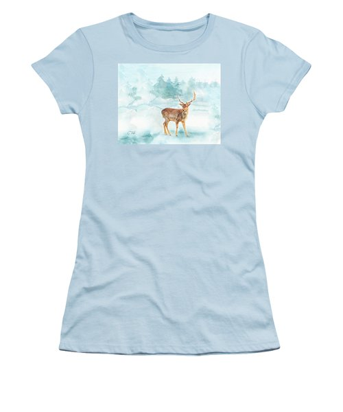 Women's T-Shirt (Junior Cut) featuring the painting The Magic Of Winter  by Colleen Taylor
