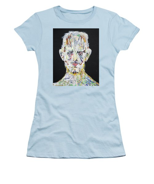 Women's T-Shirt (Junior Cut) featuring the painting The Man Who Tried To Become A Mountain by Fabrizio Cassetta
