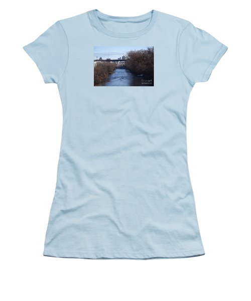 The Menomonee Near 33rd And Canal Streets Women's T-Shirt (Junior Cut) by David Blank