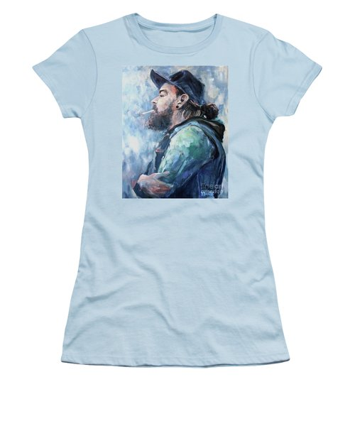 The Music Man Women's T-Shirt (Junior Cut) by Diane Daigle