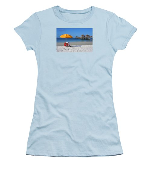 Women's T-Shirt (Junior Cut) featuring the photograph The Naples Pier by Robb Stan
