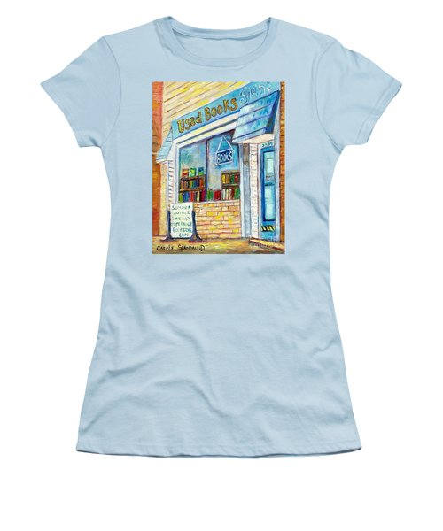 The Paperbacks Plus Book Store St Paul Minnesota Women's T-Shirt (Junior Cut) by Carole Spandau