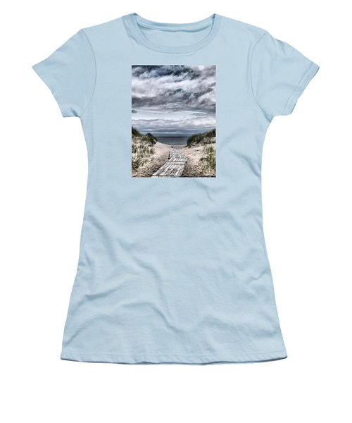 The Path To The Beach Women's T-Shirt (Junior Cut) by Jouko Lehto
