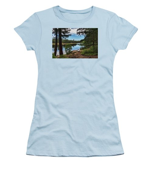 Women's T-Shirt (Athletic Fit) featuring the photograph The Perfect Fishing Spot  by Saija Lehtonen