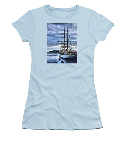The Picton Castle Docked In Lunenburg Women's T-Shirt (Athletic Fit)