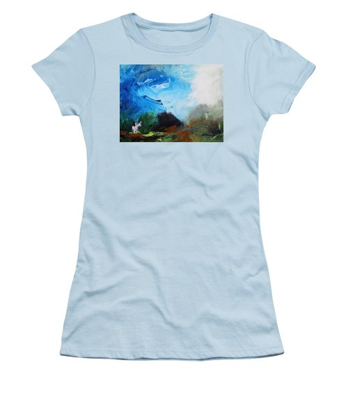 The Prayer In The Garden Women's T-Shirt (Junior Cut) by Kume Bryant