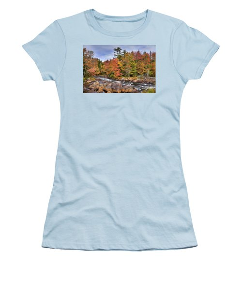 Women's T-Shirt (Junior Cut) featuring the photograph The Rapids On The Moose River by David Patterson
