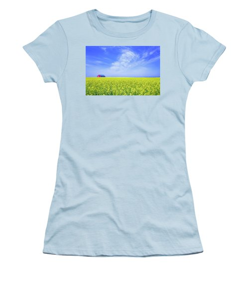 The Red Barn Women's T-Shirt (Junior Cut) by Keith Armstrong