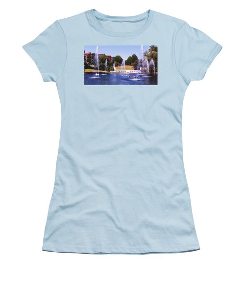 The Reflection Pond - Clemson University Women's T-Shirt (Athletic Fit)