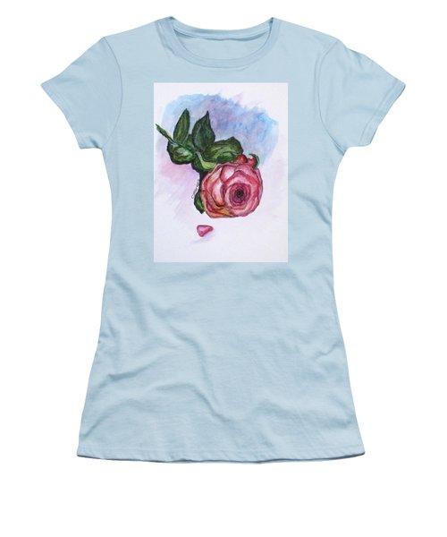 The Rose Women's T-Shirt (Junior Cut) by Clyde J Kell