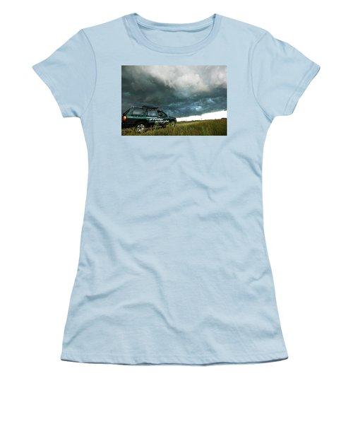 Women's T-Shirt (Junior Cut) featuring the photograph The Saskatchewan Whale's Mouth by Ryan Crouse