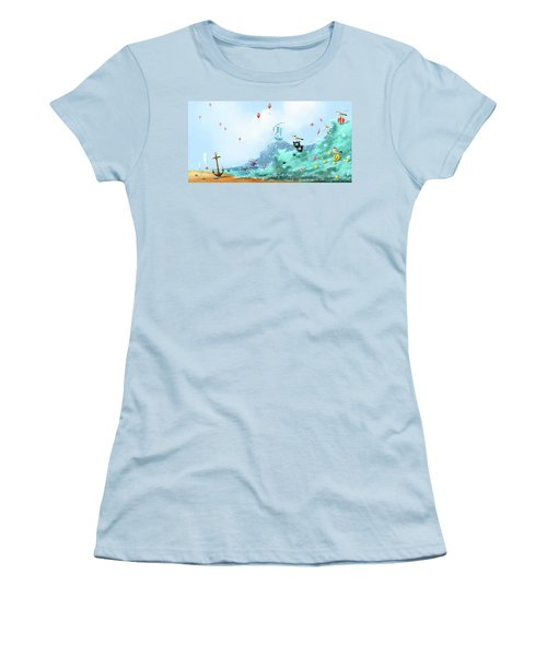 The Seagull's Cup..the Oldest Trophy In The Seafaring Calendar Women's T-Shirt (Athletic Fit)