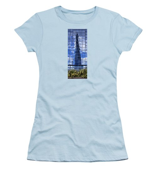 Women's T-Shirt (Junior Cut) featuring the photograph The Shard by Shirley Mitchell