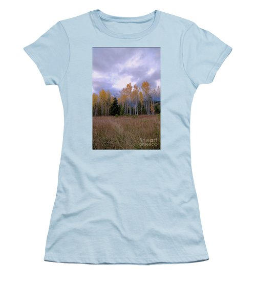 The  Song Of The Aspens 2 Women's T-Shirt (Junior Cut) by Victor K