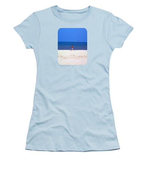 Women's T-Shirt (Junior Cut) featuring the photograph The Swimmer by Ethna Gillespie