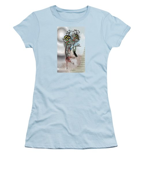 The Swing Colorful Ink Drawing Art By Saribelle Women's T-Shirt (Junior Cut) by Saribelle Rodriguez