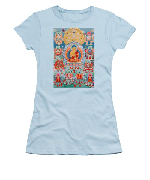 The Twelve Primordial Teachers Of Dzogchen - Tonpa Chu Ni Women's T-Shirt (Junior Cut) by Sergey Noskov
