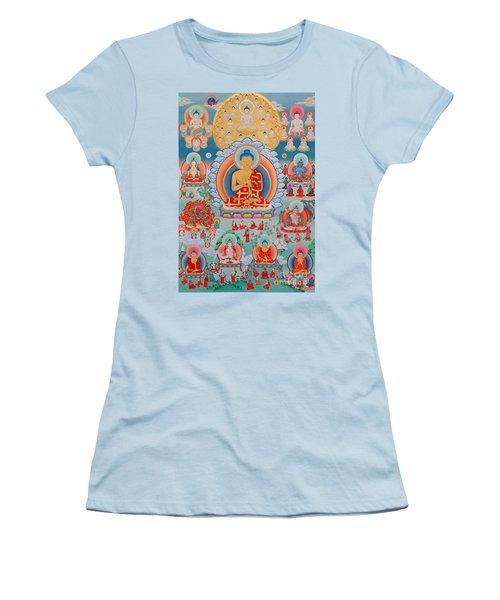 The Twelve Primordial Teachers Of Dzogchen - Tonpa Chu Ni Women's T-Shirt (Athletic Fit)