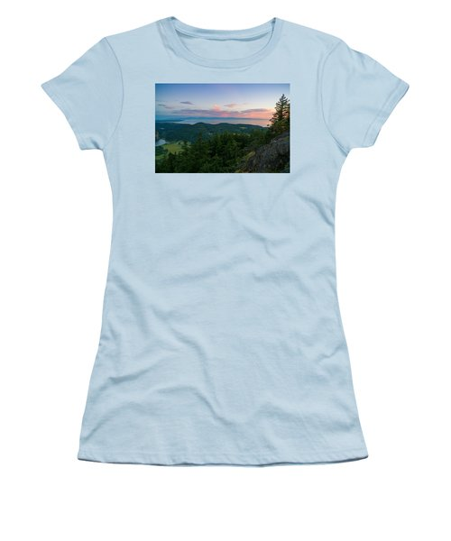 The View From Mt Erie Women's T-Shirt (Junior Cut) by Ken Stanback