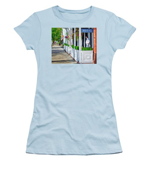 The Waiter Women's T-Shirt (Junior Cut) by Keith Armstrong