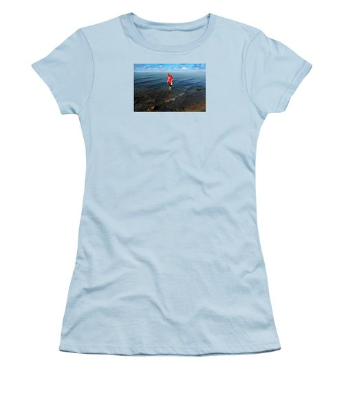 The Water's Fine Women's T-Shirt (Junior Cut) by Lena Wilhite