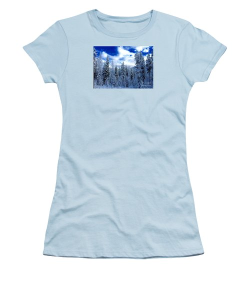 The Winter Blues  Women's T-Shirt (Junior Cut) by Jennifer Lake