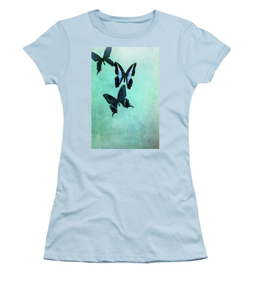 Three Butterflies Women's T-Shirt (Athletic Fit)
