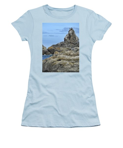 Women's T-Shirt (Athletic Fit) featuring the photograph Three Little Birds by Peggy Hughes