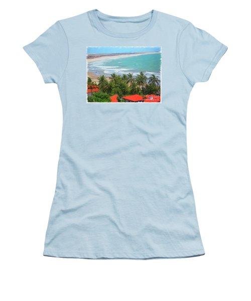 Tiabia, Brazil Beach Women's T-Shirt (Athletic Fit)