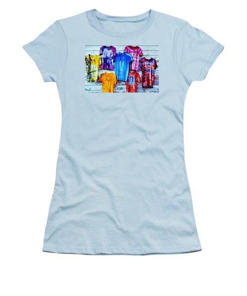 Women's T-Shirt (Junior Cut) featuring the photograph Grateful Dead Tie Dye by Susan Carella