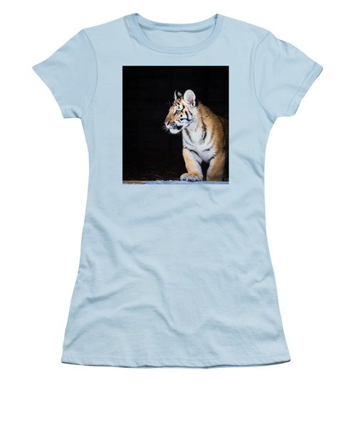 Women's T-Shirt (Junior Cut) featuring the photograph Tiger Cub by Serge Skiba